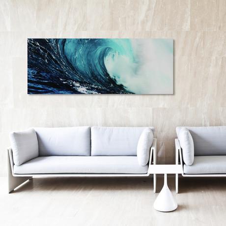 Blue Wave // Frameless Printed Tempered Art Glass (Blue Wave 1 Only)