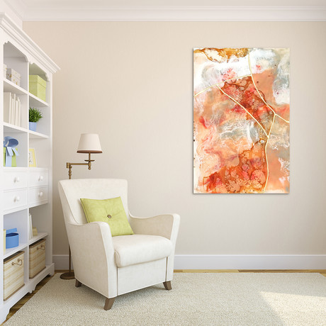 Coral Lace // Frameless Printed Tempered Art Glass (Coral Lace I)