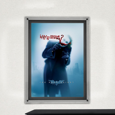 The Dark Knight Trilogy (Why So Serious) // MightyPrint™ Wall Art // Backlit LED Frame