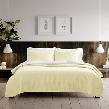 Urban Loft // Espiga Quilt Set // Yellow (Twin)
