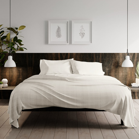 Urban Loft // 4-Piece Haulm Sheet Set // Ivory (Queen)