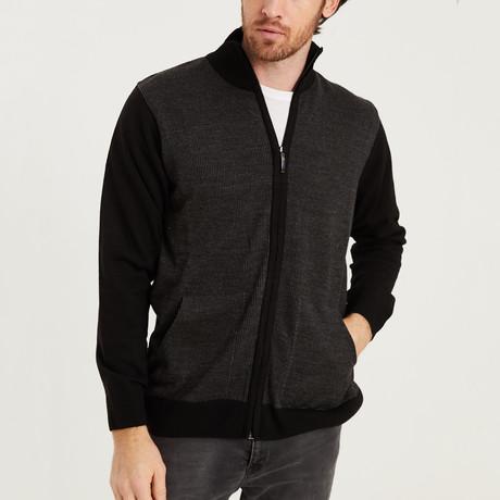 Ian Full Zip Sweater // Black (Medium)