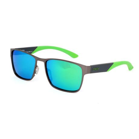 Smith // Men's Contra Sunglasses // Dark Ruthenium + Green