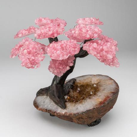 The Comfort Tree // Custom Rose Quartz Tree + Citrine Matrix // V7