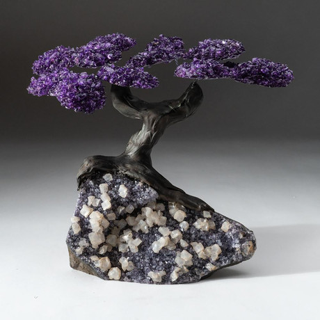 The Protection Tree // Custom Amethyst Tree + Amethyst/Calcite Matrix