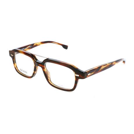 Men's 1001-KVI Optical Frames // Striped Brown