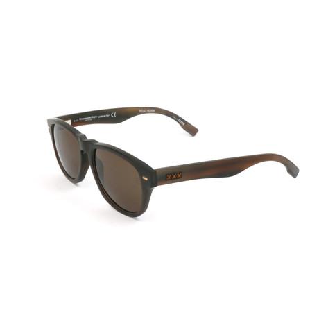 Men's ZC0019 Sunglasses // Dark Brown