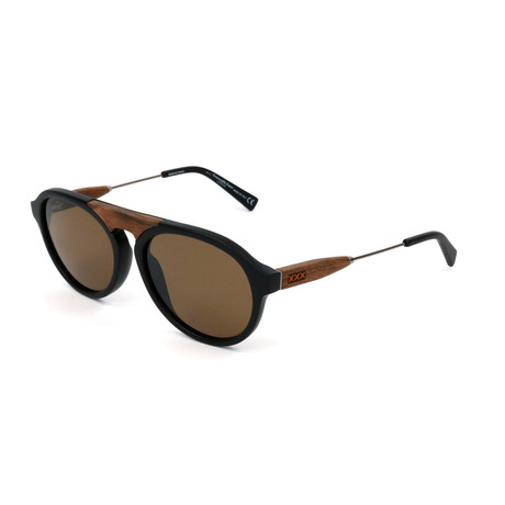 Men's ZC0027 Sunglasses // Matte Black + Brown