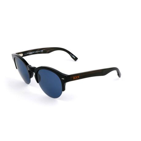 Men's ZC0008 Sunglasses // Black + Blue