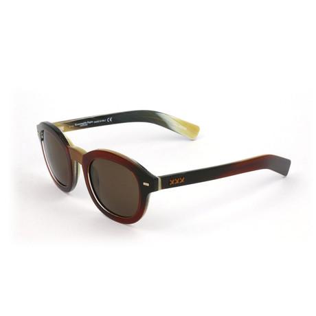 Men's ZC0011 Sunglasses // Dark Red Havana + Brown