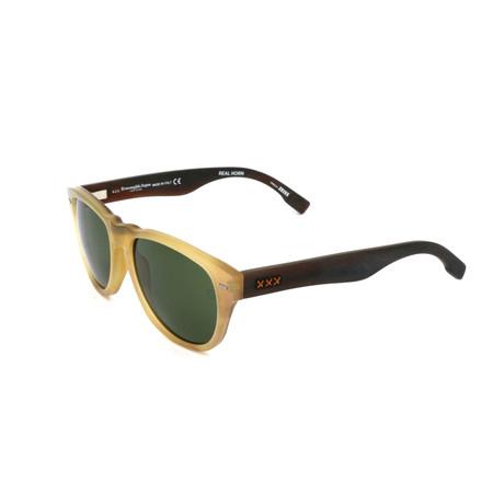 Men's ZC0019 Sunglasses // Dark Brown + Yellow + Green
