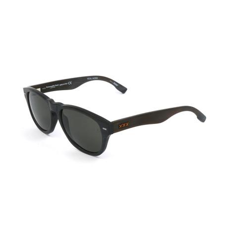Men's ZC0019 Sunglasses // Dark Brown + Gray