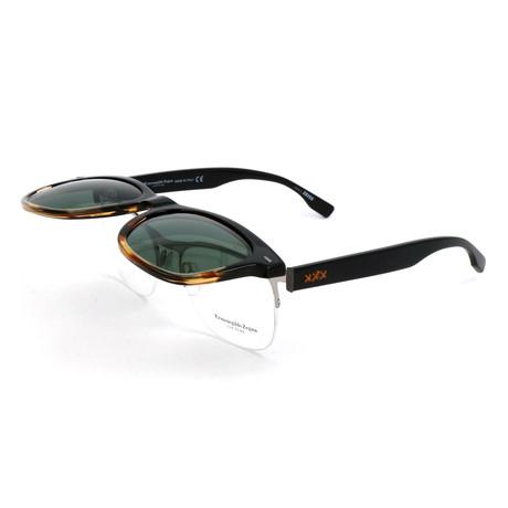 Men's ZC0001 Flip-Up Sunglasses // Black + Havana
