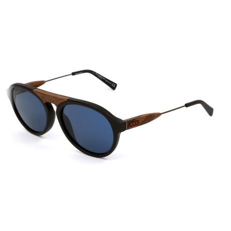 Men's ZC0027 Sunglasses // Matte Black + Brown + Blue