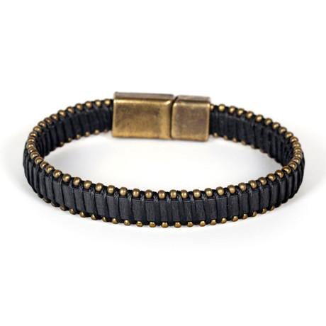 Parolles Bracelet // Antique Yellow + Black