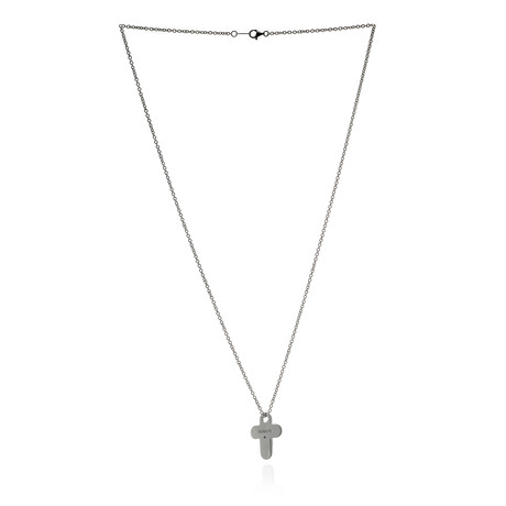 Damiani D.First Sterling Silver Diamond Necklace II // Store Display