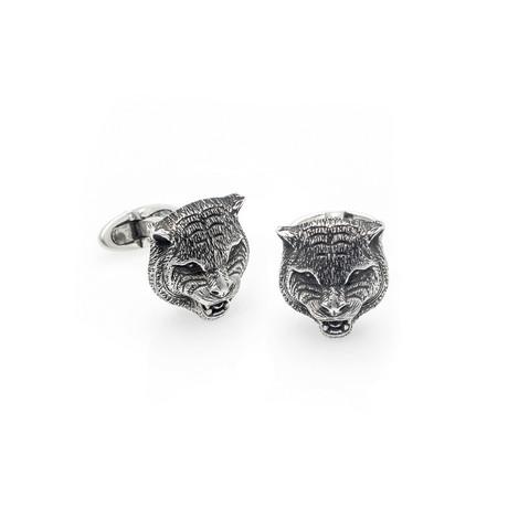 Gucci Garden Sterling Silver Cufflinks // Store Display