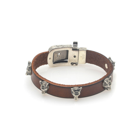 Gucci Anger Forest Sterling Silver + Leather Bracelet III // Store Display