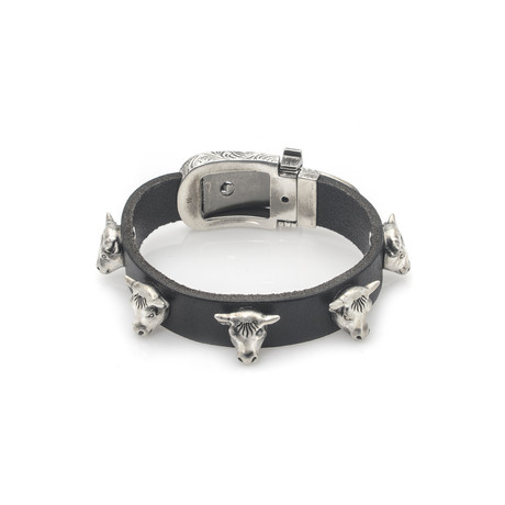 Gucci Anger Forest Sterling Silver + Leather Bracelet II // Store Display