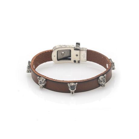 Gucci Anger Forest Sterling Silver + Leather Bracelet V // Store Display