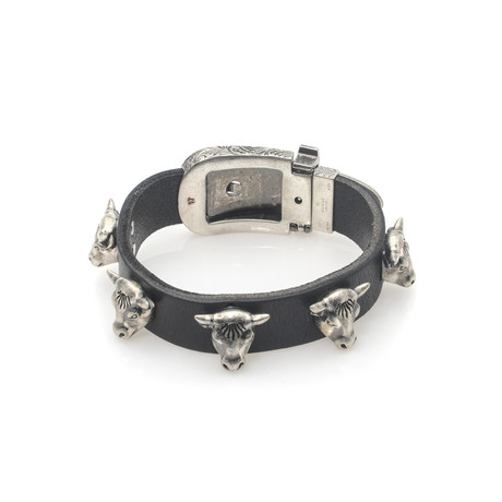 Gucci Anger Forest Sterling Silver + Leather Bracelet I // Store Display