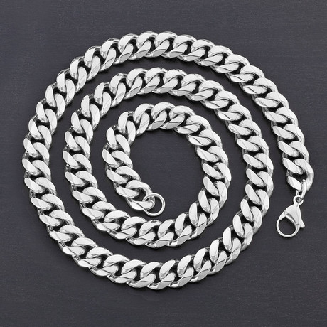 Curb Chain Necklace // 12mm (White)