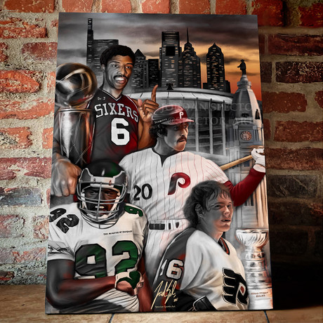 """Philly Sports // Broad Street Boys // Canvas (16""""H x 24""""W x 1.5""""D)"""