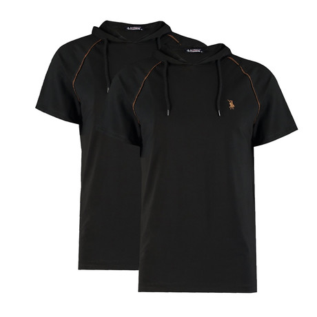 Pack of 2 // Hoodie Shirt // Black + Black (Small)