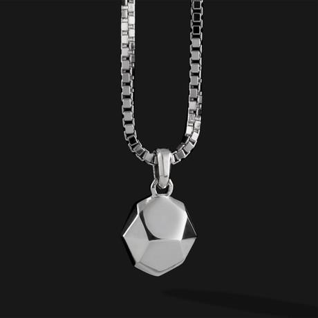 Geom Pendant V.2 // Silver