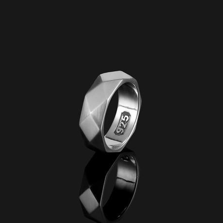Geom Ring // Matte Silver (8.5)
