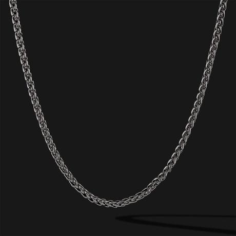 Wheat Chain // Black + Gold