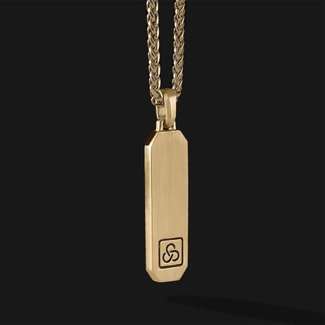 Signature Pendant // Gold