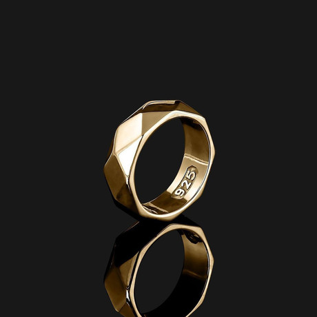 Geom Ring // Gold (8.5)