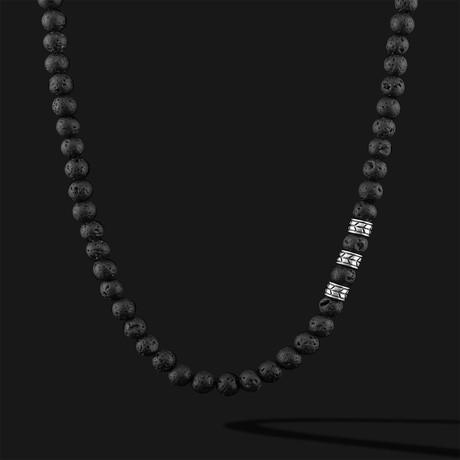 "Royale Lava Necklace // Silver (22"")"