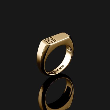 Signature Ring // Gold (8.5)
