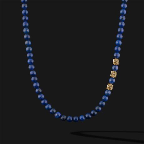 "Lapis Lazuli Necklace // Gold (22"")"