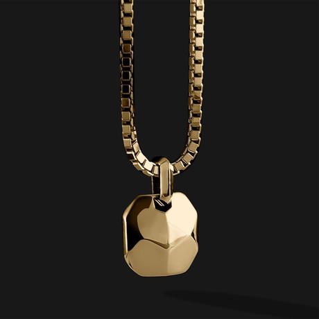 Geom Pendant // Gold