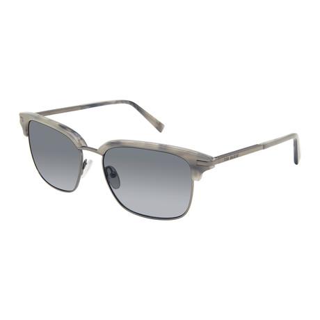 Men's Retro Rectangle Club Polarized Sunglasses // Gray