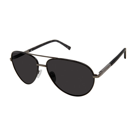 Men's Aviator Polarized Sunglasses V1 // Black