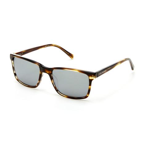 Men's Rectangle Polarized Sunglasses // Horn