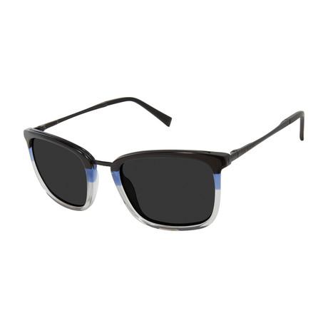 Men's Square Polarized Sunglasses // Black