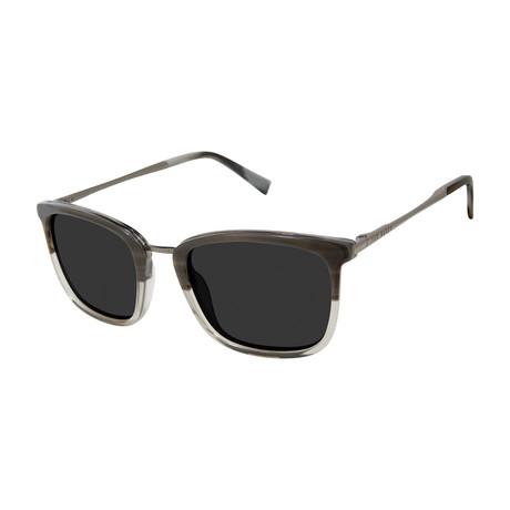 Men's Square Polarized Sunglasses // Gray + Brown