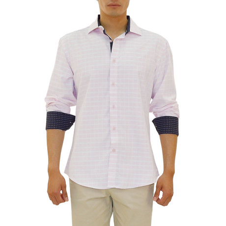 Malek Long Sleeve Button Up Shirt // Pink (XS)