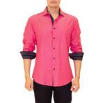 Francesco Long Sleeve Button Up Shirt // Red (L)