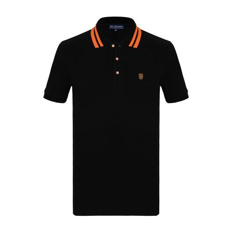 Floyd Short Sleeve Polo Shirt // Black (S)