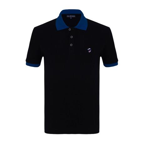 Jacob Short Sleeve Polo Shirt // Navy (S)