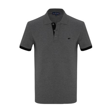 David Short Sleeve Polo Shirt // Anthracite (S)