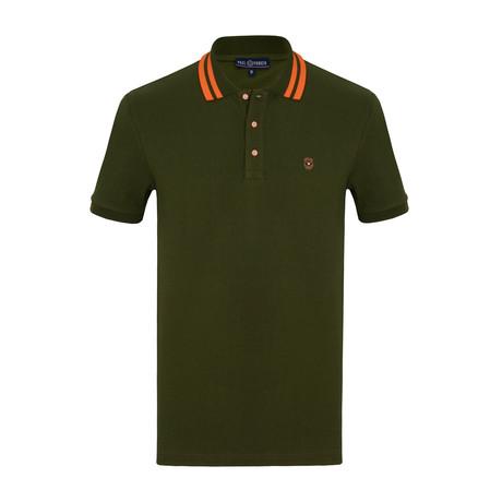 Roberto Short Sleeve Polo Shirt // Army Green (S)