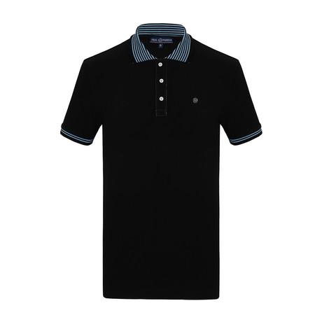 Christian Short Sleeve Polo Shirt // Black (S)
