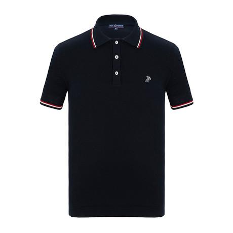 Troy Short Sleeve Polo Shirt // Navy (S)